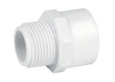 Adaptador macho PVC