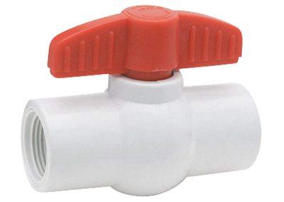 Valvula de bola roscada PVC